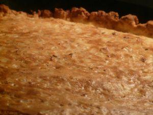 Hartige taart met spruitjes